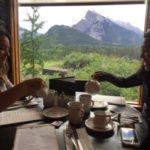 Two people dine at the patio paradise of Banff's Juniper Bistro