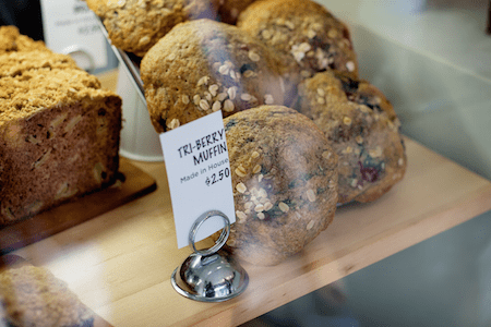 delicious muffins and bread from Whitebark Cafe
