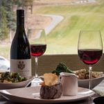 Steak, wine and a view from a working lunch at Rustica