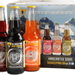 A pack of sodas made from Grizzly Paw Brewery